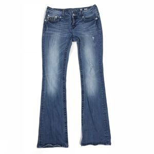 Miss Me Boot Cut Distressed Jeans FLAW 31 #543